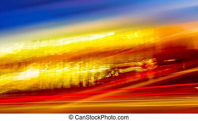 tráfego, blurry