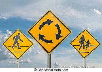 tráfego, céu, sinais