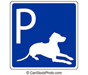 tráfego, cachorros, sinal