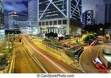 tráfego cidade, noturna