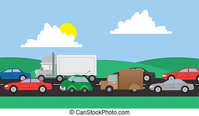tráfego, estrada