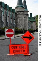 tráfego, francês, sinais