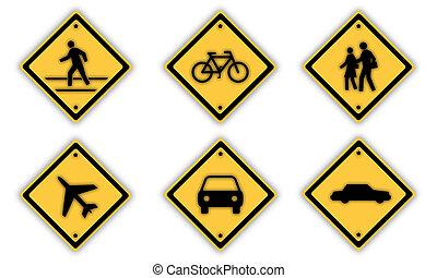 tráfego, signs.