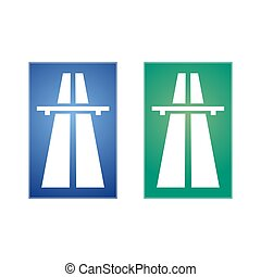 tráfego, sinal rodovia