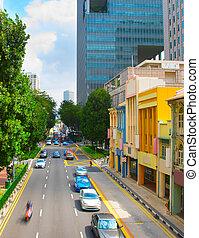 tráfico, camino, singapur