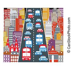 tráfico de automóvil