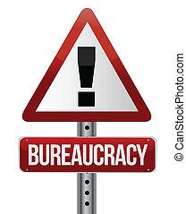 tráfico de camino, señal, con, un, burocracia, concepto