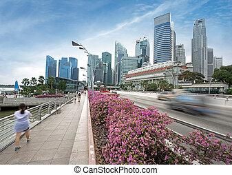 tráfico de la ciudad, singapur