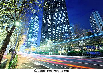 tráfico de la ciudad, tokio