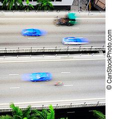 tráfico, rápido, singapur