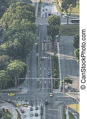tráfico, singapore.