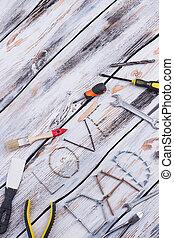 trä, bakgrund., förfäder, komposition, dag
