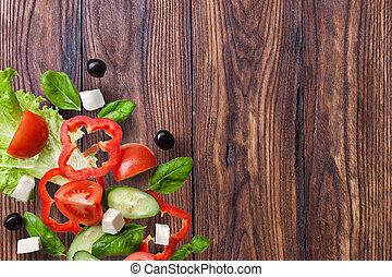 trä, brun, gammal, tom, bakgrund