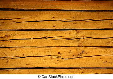 trä, brun, knäckt, gammal, plankor