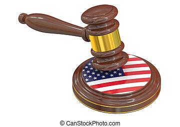 trä, flagga, framförande, amerikan, liten hammare slagklubba, 3