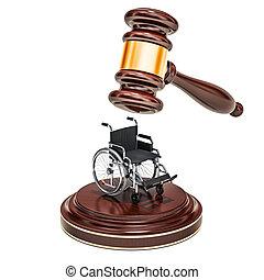 trä, framförande, 3, liten hammare slagklubba, rullstol