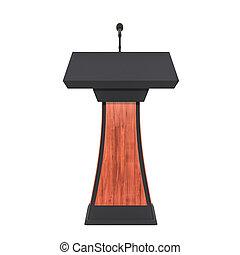 trä, framförande, 3, tribune, mikrofon