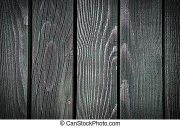 trä, grön fond, struktur