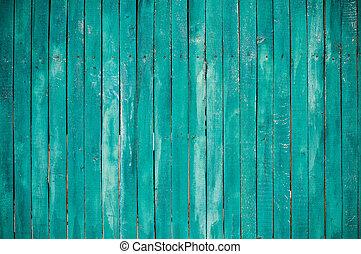trä, grön, plankor