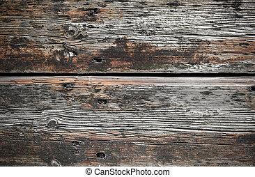 trä, grov, plankor