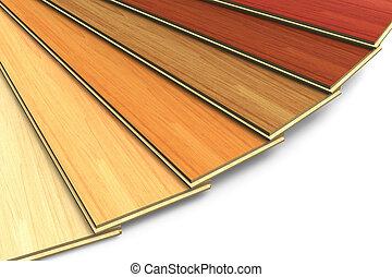 trä, konstruktion sätt, plankor, laminera