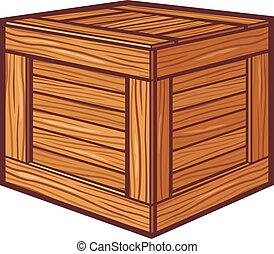 trä låda