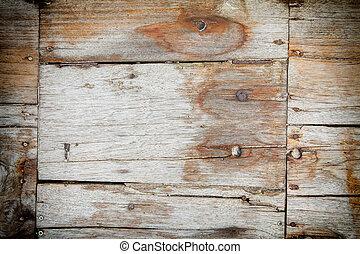 trä, ridit ut, plankor, struktur