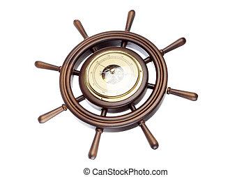 trä, roder, med, barometer