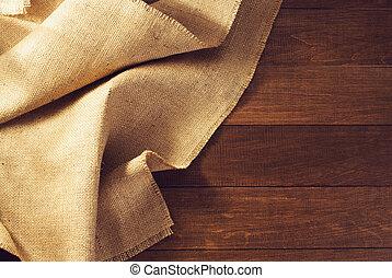 trä, säckväv, säckväv, hessisk