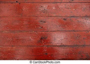 trä, smutsa ner, röd, sarg