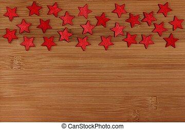 Trä, Stjärnor, bakgrund, röd