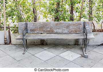 Trä, stol, Trädgård, länge