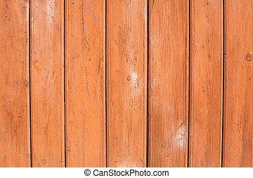 trä struktur, måla, ved, orange fond