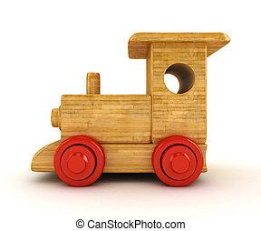 trä tåg, 3
