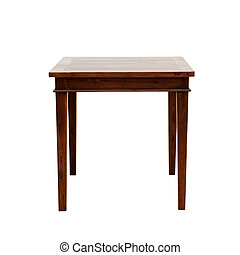 trä tabell, isolerat