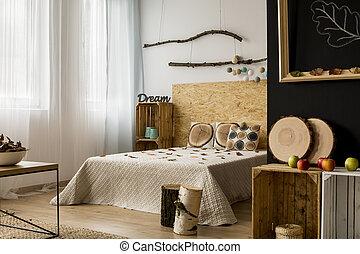 trä, tillbehör, sovrum