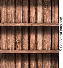 trä, tom, hyllor, bakgrund