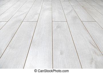 trä, vit fond, struktur, golv