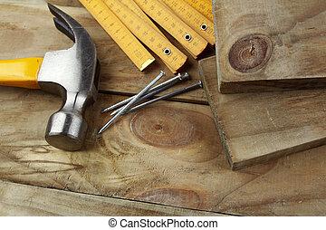 träbearbetning, redskapen