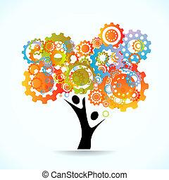 träd, abstrakt