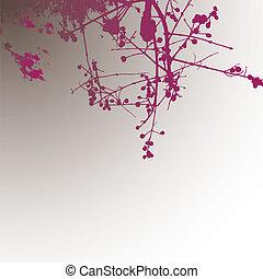 träd., bakgrund, abstrakt