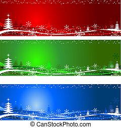 träd, bakgrunder, jul