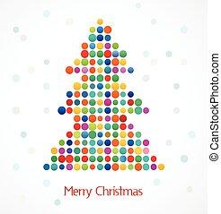träd, bildpunkt, jul