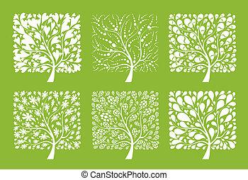 träd, design, konst, din, kollektion