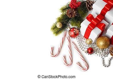träd, godis, gåva, jul