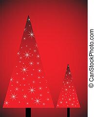 träd, jul, abstrakt
