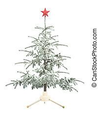 träd, jul, snö