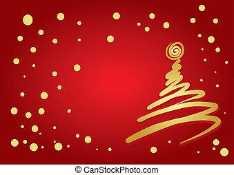 träd, jul, (vector)