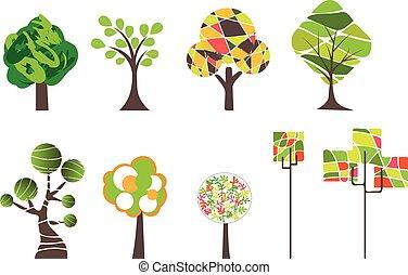 träd, packe