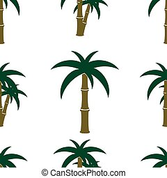 träd, palm, mönster, seamless